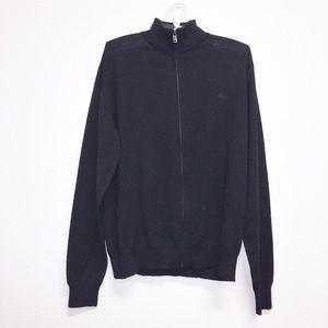 Burberry Wool Zip Up Sweater